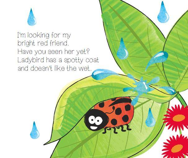 at the bottom of my garden rhyme and sign adventure ladybird