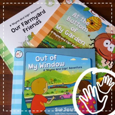 little signers club rhyme and sign adventures BSL story books farm minibeasts transport early years